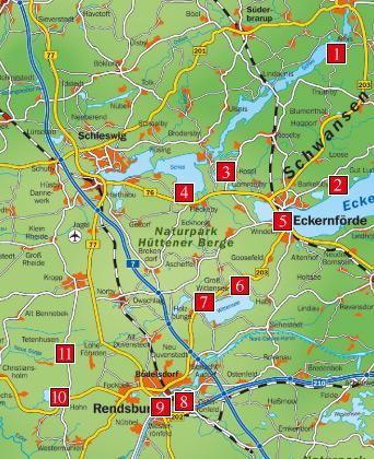 Schleswig Holstein Is S T Lecker Landkarte